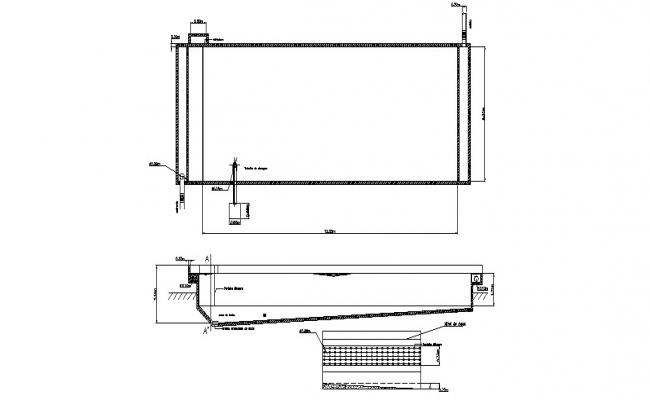 Bridge section and construction cad drawing details dwg file