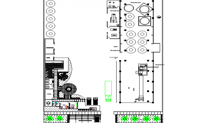 Broadening banquet no plant detail dwg file