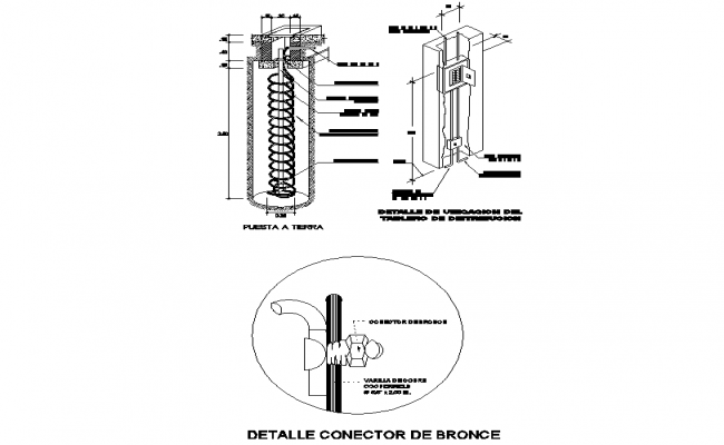 Bronze connector dwg file