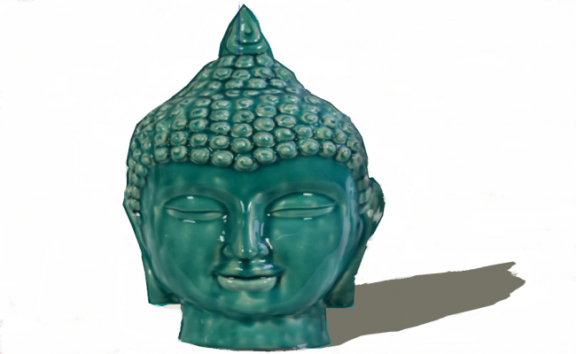 Buddha statue 3d view skp file