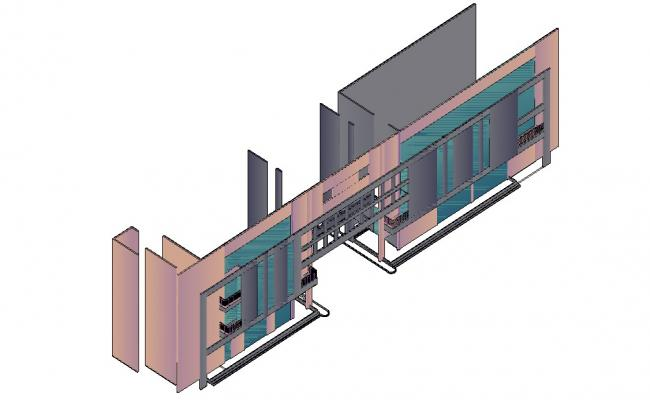 Building 3d model AutoCAD Drawing