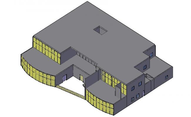 Building 3d model CAD Drawing