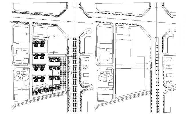 Building Area Design Master Plan CAD Drawing