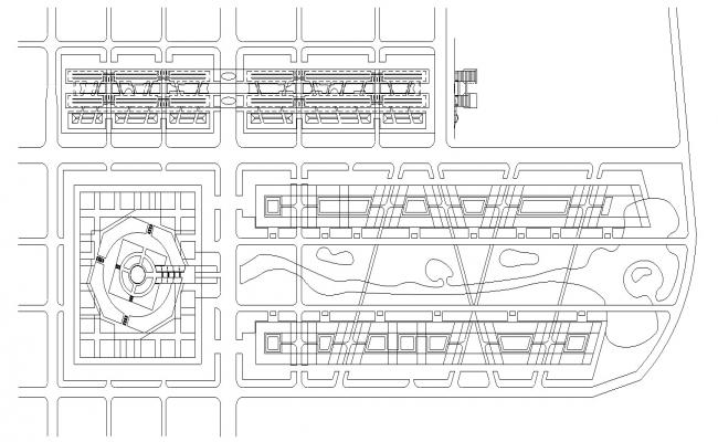 Building Area Layout CAD Drawing Plan