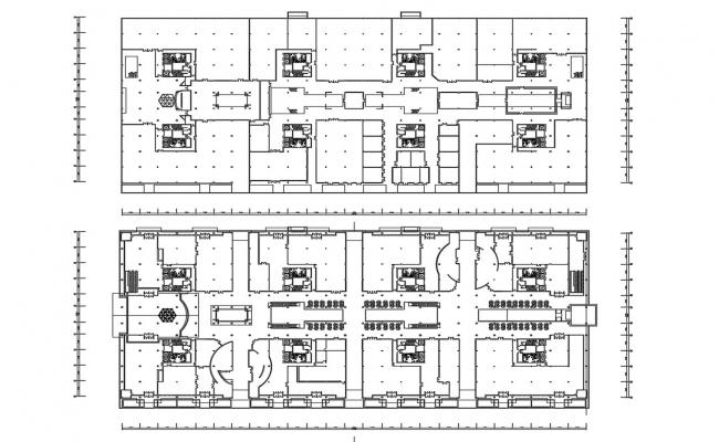 Building Area Layout Plan CAD Drawing
