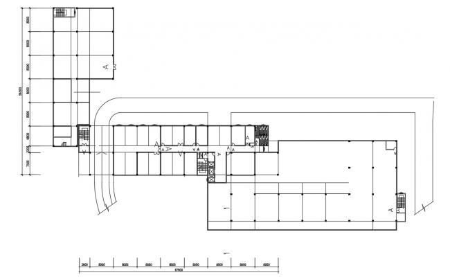 Building Column Design Plan AutoCAD Drawing