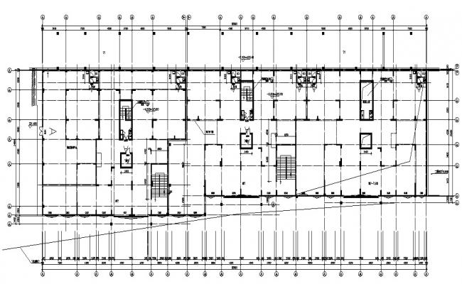 Building Construction Center Line Plan  AutoCAD Drawing
