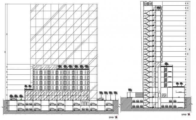 Building Cross Section AutoCAD File