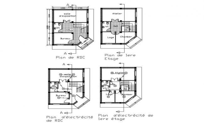 Building Design Plan CAD File Download