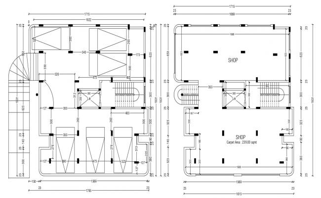 Building Design Plan DWG File
