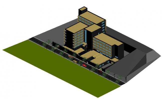 Building Design Plan In DWG File