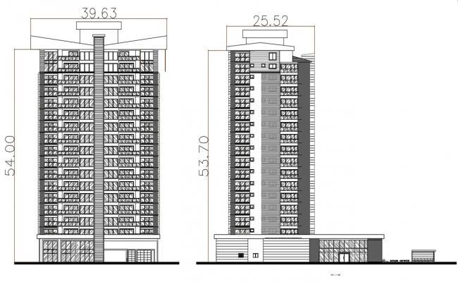 Building Elevation CAD Drawing download