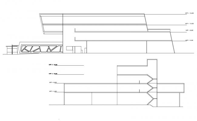 Building Elevation Free AutoCAD Drawing
