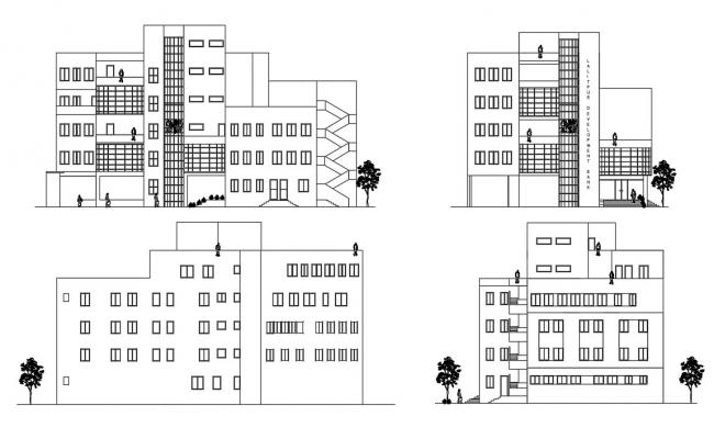 Building Elevation Free AutoCAD Drawings