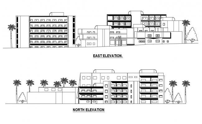 Building Elevation Plan CAD File download