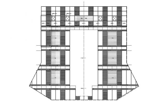 Building Elevation design Architecture CAD Drawing