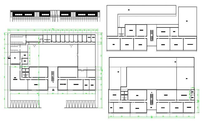 Building Floor Plan AutoCAD Drawing