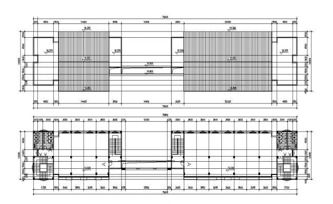 Building Floor Plan CAD Drawing