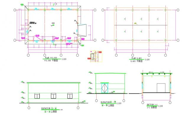 Building Floor Plans With Elevation,Section And Working Drawing AutoCAD Files