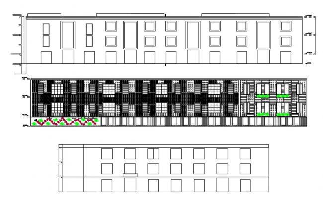 Building Free Elevation Design DWG File
