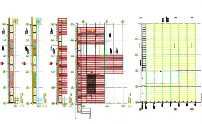 Building Lower Roof Plan AutoCAD File