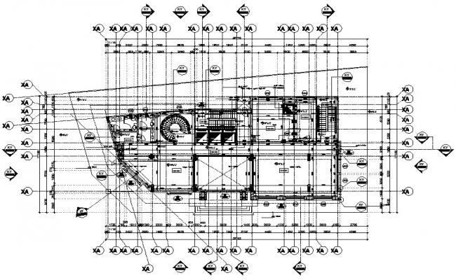 Building Plan CAD Drawing download