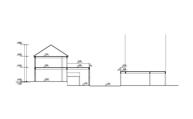 Building Section Design CAD Drawing