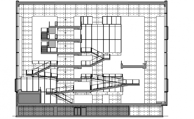 Building Section Plan Details dwg file