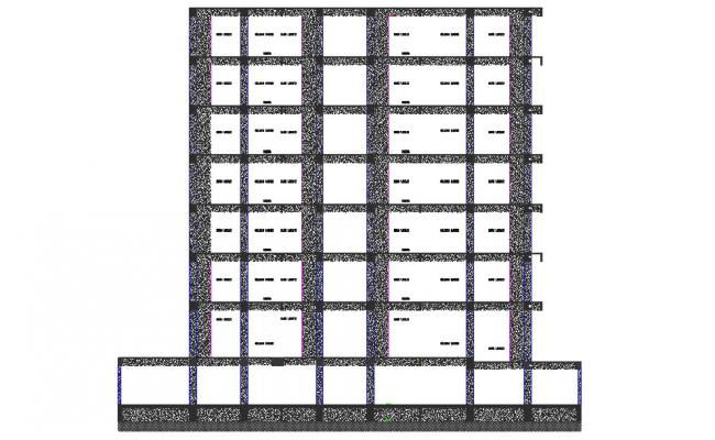 Building Section With Hatching  Drawing AutoCAD File Free