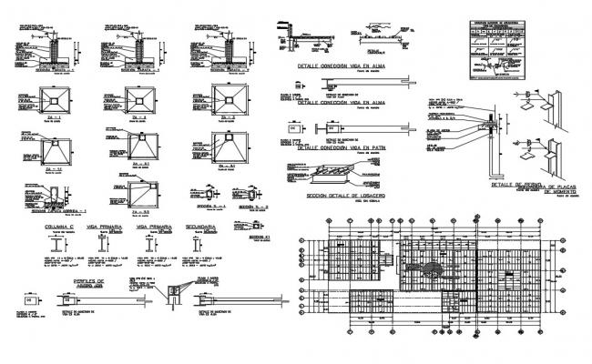 Building Structure Drawing In AutoCAD File