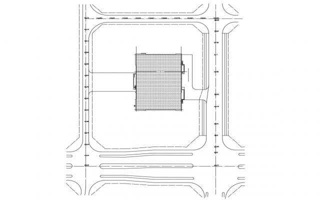 Building Terrace Design CAD Plan
