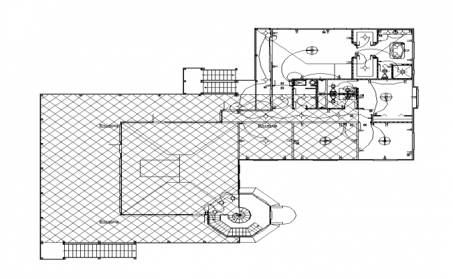 Building an electrical installation 2d view layout plan