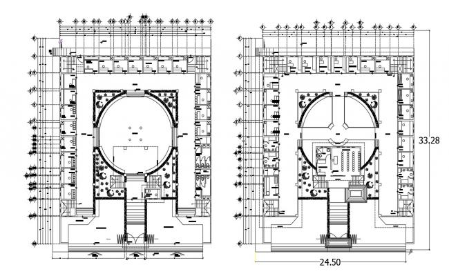 Building architectural AutoCAD drawing