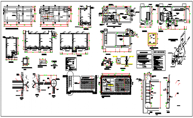Building beam and column concrete structure dwg file