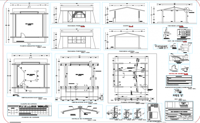 Building construction section plan detail dwg file