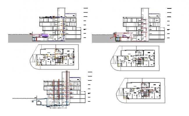 Building constructions and plumbing detail