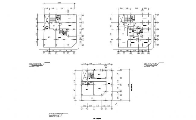 Building design 12.80mtr x 14.40mtr with detail dimension in dwg file