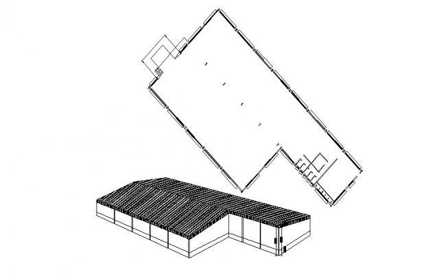 Building design  in AutoCAD file