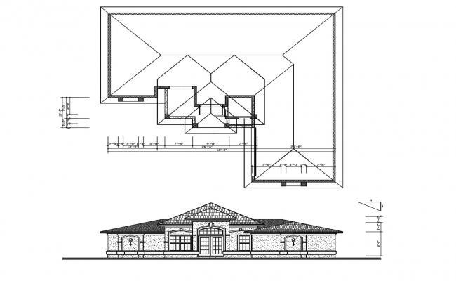 Modern Luxurious House Plan In DWG File