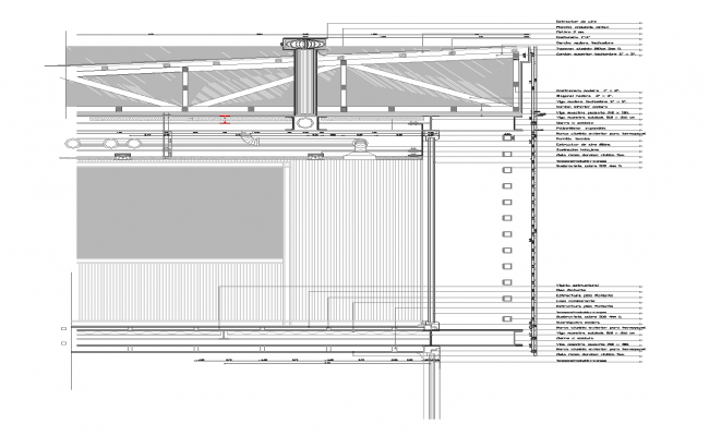 Building detail steel structure detail section 2d view layout file