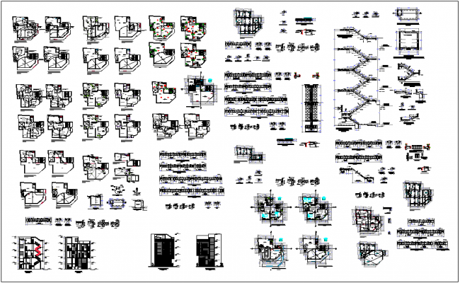 Building detail view of dwg file