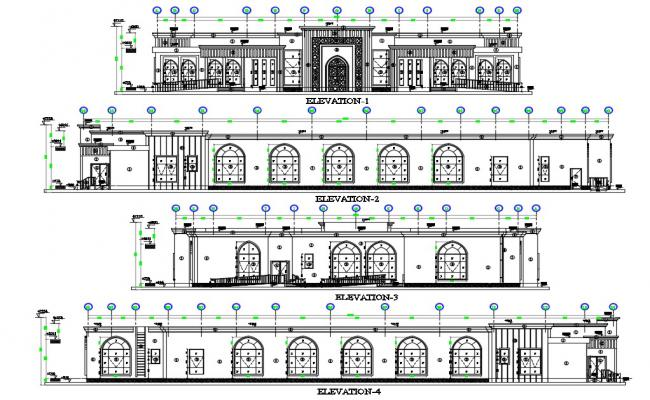 Building elevation Drawing CAD file download