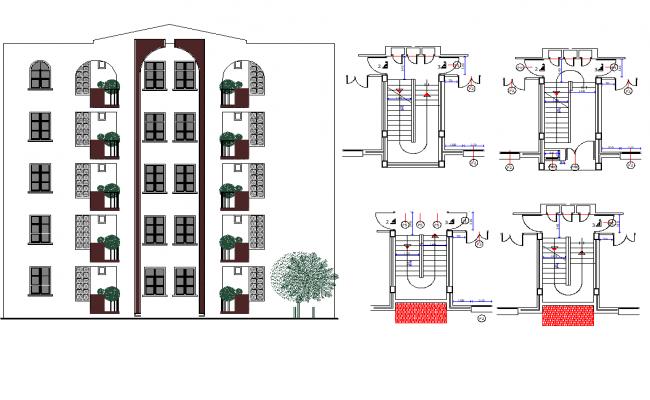 Building elevation dwg file