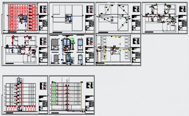 Building facilities system design drawing