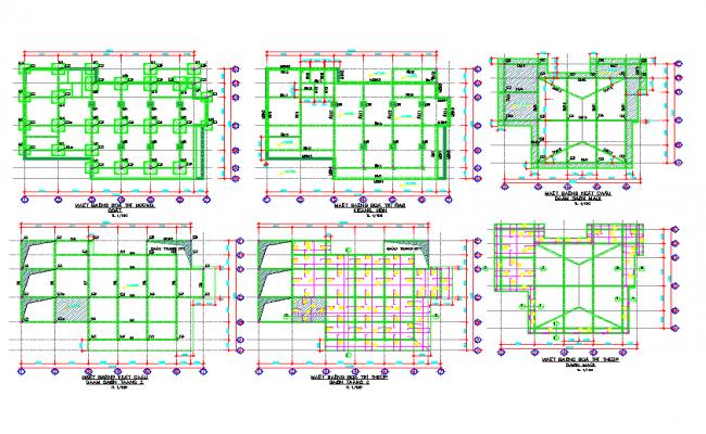 Building foundation design DWG file