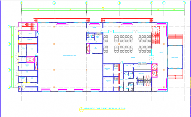 Building ground floor furniture plan