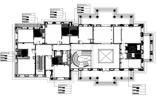 Building layout plan CAD file download