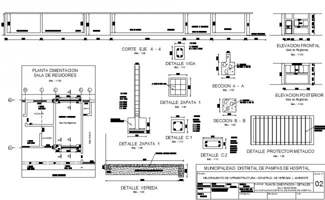 Building material plan detail dwg file