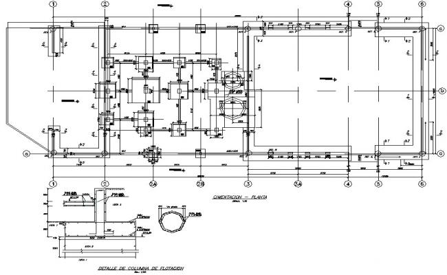 Building of flotation plant of minerals plan detail dwg file