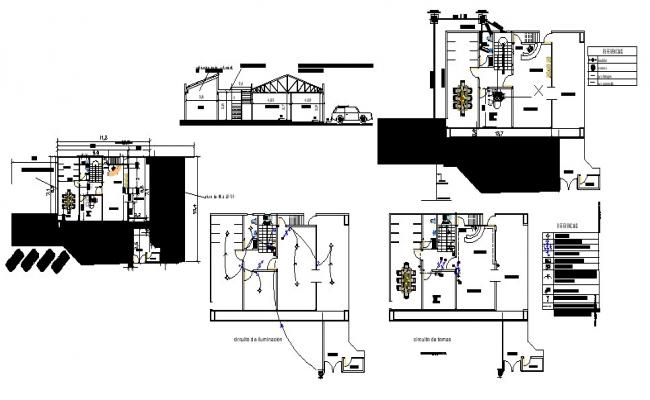 Building plan 16.9mtr x 10.7mtr with detail dimension in dwg file